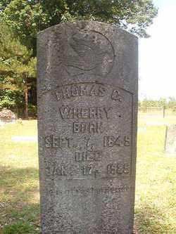 WHERRY, THOMAS C - Bradley County, Arkansas | THOMAS C WHERRY - Arkansas Gravestone Photos