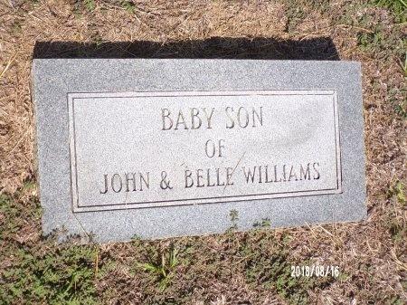 WILLIAMS, BABY SON - Bradley County, Arkansas | BABY SON WILLIAMS - Arkansas Gravestone Photos