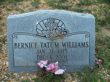 WILLIAMS, BERNICE - Bradley County, Arkansas   BERNICE WILLIAMS - Arkansas Gravestone Photos