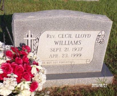 WILLIAMS, CECIL LLOYD, REV - Bradley County, Arkansas | CECIL LLOYD, REV WILLIAMS - Arkansas Gravestone Photos