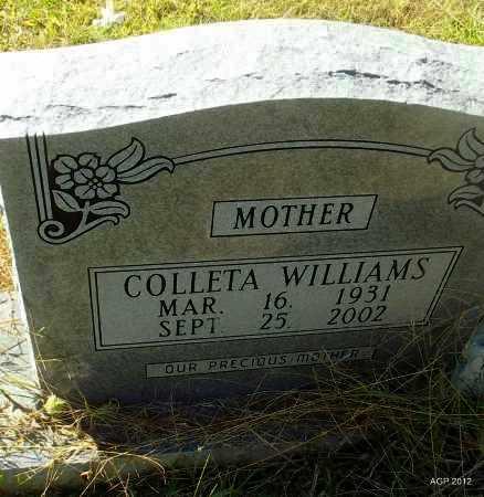 WILLIAMS, COLLETA - Bradley County, Arkansas | COLLETA WILLIAMS - Arkansas Gravestone Photos