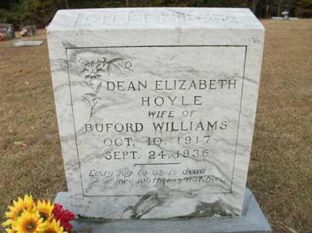 WILLIAMS, DEAN ELIZABETH - Bradley County, Arkansas | DEAN ELIZABETH WILLIAMS - Arkansas Gravestone Photos