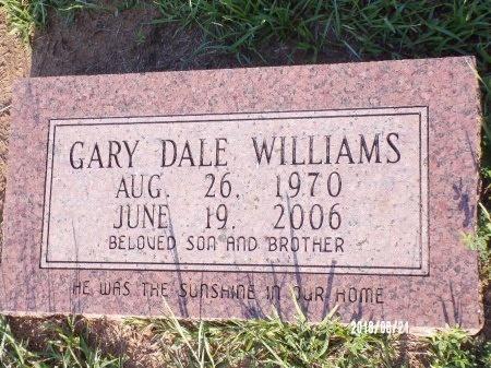 WILLIAMS, GARY DALE - Bradley County, Arkansas   GARY DALE WILLIAMS - Arkansas Gravestone Photos