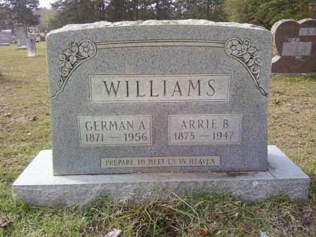 WILLIAMS, GERMAN ALEXANDER - Bradley County, Arkansas | GERMAN ALEXANDER WILLIAMS - Arkansas Gravestone Photos