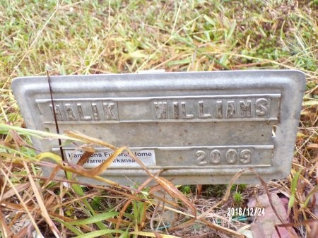 WILLIAMS, HALIK - Bradley County, Arkansas   HALIK WILLIAMS - Arkansas Gravestone Photos