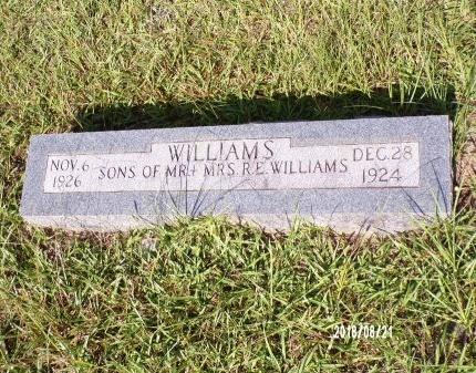 WILLIAMS, INFANT - Bradley County, Arkansas   INFANT WILLIAMS - Arkansas Gravestone Photos