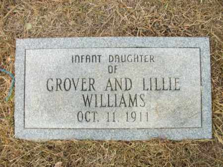 WILLIAMS, INFANT DAUGHTER - Bradley County, Arkansas | INFANT DAUGHTER WILLIAMS - Arkansas Gravestone Photos