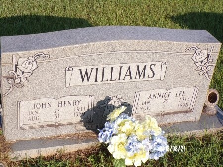 WILLIAMS, ANNICE LEE - Bradley County, Arkansas | ANNICE LEE WILLIAMS - Arkansas Gravestone Photos