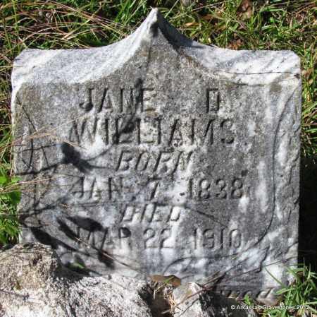 WILLIAMS, JAMES D - Bradley County, Arkansas   JAMES D WILLIAMS - Arkansas Gravestone Photos