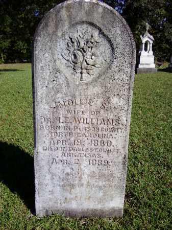WILLIAMS, MOLLIE S - Bradley County, Arkansas   MOLLIE S WILLIAMS - Arkansas Gravestone Photos