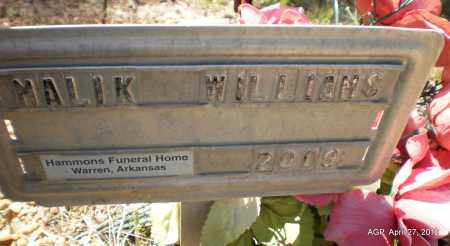 WILLIAMS, MALIK - Bradley County, Arkansas   MALIK WILLIAMS - Arkansas Gravestone Photos
