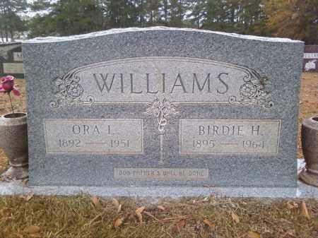 WILLIAMS, ORA L - Bradley County, Arkansas | ORA L WILLIAMS - Arkansas Gravestone Photos