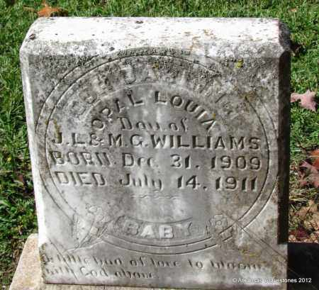 WILLIAMS, OPAL LOUISA - Bradley County, Arkansas | OPAL LOUISA WILLIAMS - Arkansas Gravestone Photos