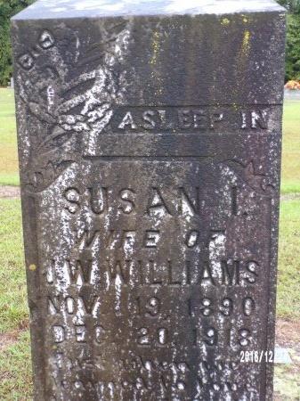 WILLIAMS, SUSAN I (CLOSE UP) - Bradley County, Arkansas | SUSAN I (CLOSE UP) WILLIAMS - Arkansas Gravestone Photos