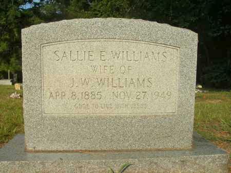 WILLIAMS, SALLIE E - Bradley County, Arkansas   SALLIE E WILLIAMS - Arkansas Gravestone Photos