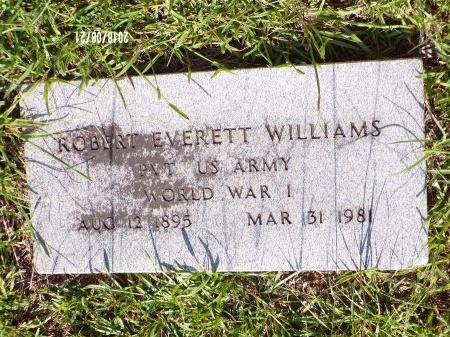 WILLIAMS (VETERAN WWI), ROBERT EVERETT  - Bradley County, Arkansas   ROBERT EVERETT  WILLIAMS (VETERAN WWI) - Arkansas Gravestone Photos