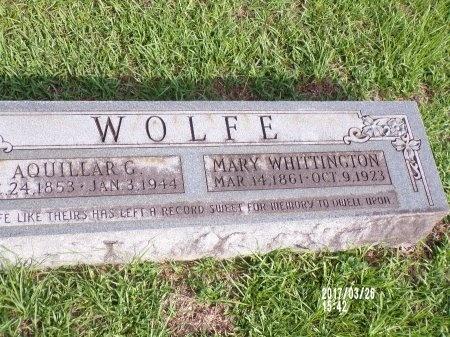 WOLFE, AQUILLAR G - Bradley County, Arkansas | AQUILLAR G WOLFE - Arkansas Gravestone Photos