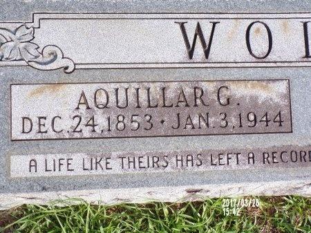 WOLFE, AQUILLAR G (CLOSE UP) - Bradley County, Arkansas | AQUILLAR G (CLOSE UP) WOLFE - Arkansas Gravestone Photos
