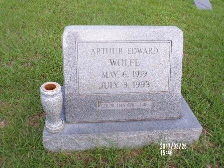 WOLFE, ARTHUR EDWARD - Bradley County, Arkansas | ARTHUR EDWARD WOLFE - Arkansas Gravestone Photos