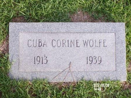 WOLFE, CUBA CORINE - Bradley County, Arkansas   CUBA CORINE WOLFE - Arkansas Gravestone Photos