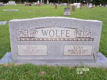 FRANKLIN WOLFE, EUNA BLANCH - Bradley County, Arkansas | EUNA BLANCH FRANKLIN WOLFE - Arkansas Gravestone Photos