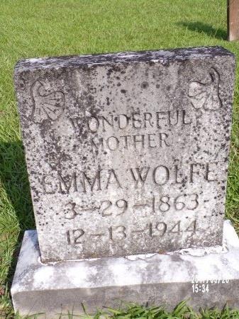 WOLFE, EMMA - Bradley County, Arkansas | EMMA WOLFE - Arkansas Gravestone Photos