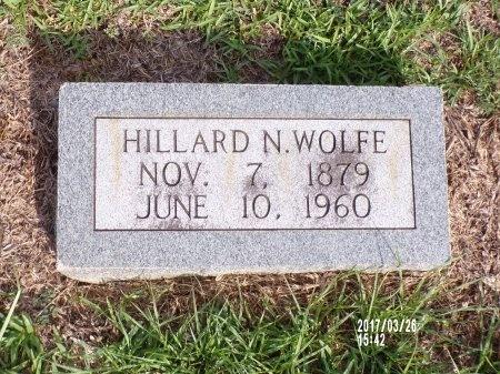 WOLFE, HILLARD NASH - Bradley County, Arkansas   HILLARD NASH WOLFE - Arkansas Gravestone Photos