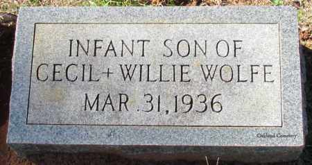 WOLFE, INFANT SON - Bradley County, Arkansas   INFANT SON WOLFE - Arkansas Gravestone Photos