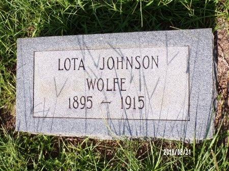 JOHNSON WOLFE, LOTA - Bradley County, Arkansas | LOTA JOHNSON WOLFE - Arkansas Gravestone Photos