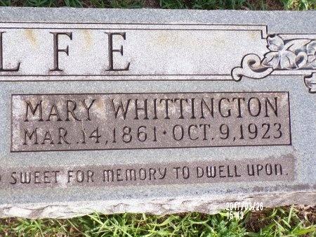 WOLFE, MARY (CLOSE UP) - Bradley County, Arkansas | MARY (CLOSE UP) WOLFE - Arkansas Gravestone Photos