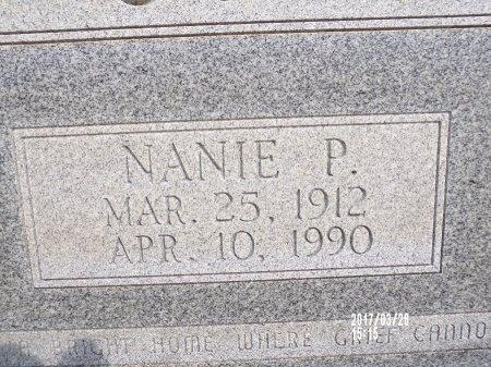 WOLFE, NANIE P (CLOSE UP) - Bradley County, Arkansas   NANIE P (CLOSE UP) WOLFE - Arkansas Gravestone Photos