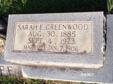 GREENWOOD WOLFE, SARAH E (CLOSE UP) - Bradley County, Arkansas | SARAH E (CLOSE UP) GREENWOOD WOLFE - Arkansas Gravestone Photos