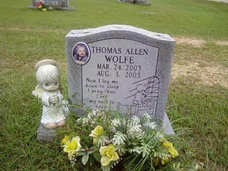 WOLFE, THOMAS ALLEN - Bradley County, Arkansas | THOMAS ALLEN WOLFE - Arkansas Gravestone Photos