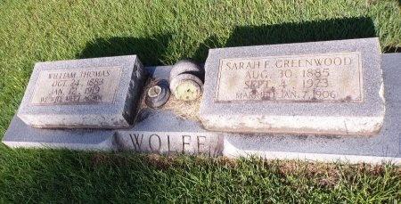 WOLFE, SARAH E - Bradley County, Arkansas | SARAH E WOLFE - Arkansas Gravestone Photos
