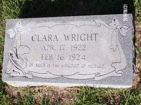 WRIGHT, CLARA - Bradley County, Arkansas | CLARA WRIGHT - Arkansas Gravestone Photos