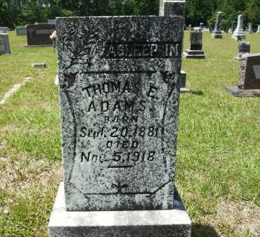 ADAMS, THOMAS ELMO - Calhoun County, Arkansas | THOMAS ELMO ADAMS - Arkansas Gravestone Photos