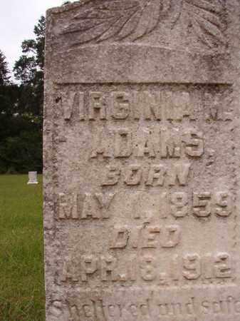 ADAMS, VIRGINIA M (CLOSE UP) - Calhoun County, Arkansas | VIRGINIA M (CLOSE UP) ADAMS - Arkansas Gravestone Photos