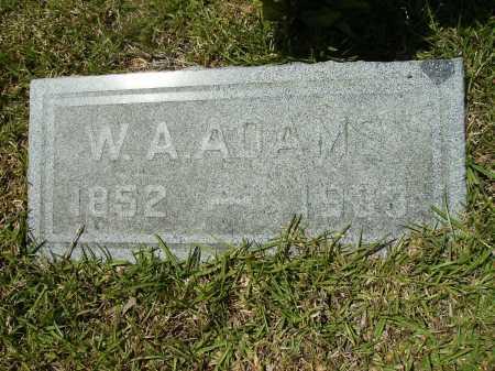 ADAMS, W A - Calhoun County, Arkansas | W A ADAMS - Arkansas Gravestone Photos