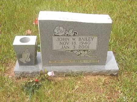 BAILEY, JOHN W - Calhoun County, Arkansas | JOHN W BAILEY - Arkansas Gravestone Photos