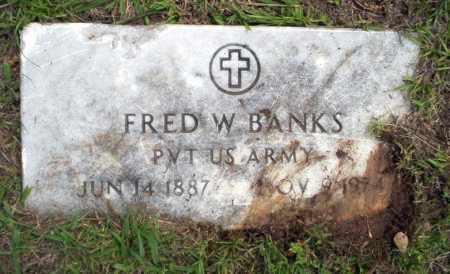 BANKS (VETERAN), FRED W - Calhoun County, Arkansas | FRED W BANKS (VETERAN) - Arkansas Gravestone Photos