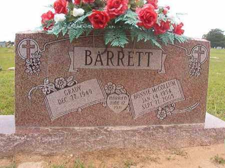 MCCOLLUM BARRETT, BONNIE - Calhoun County, Arkansas | BONNIE MCCOLLUM BARRETT - Arkansas Gravestone Photos