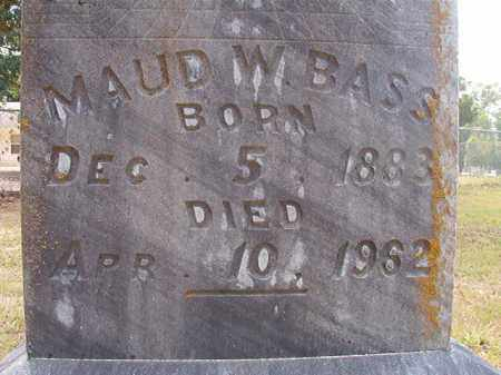 BASS, MAUD W - Calhoun County, Arkansas | MAUD W BASS - Arkansas Gravestone Photos