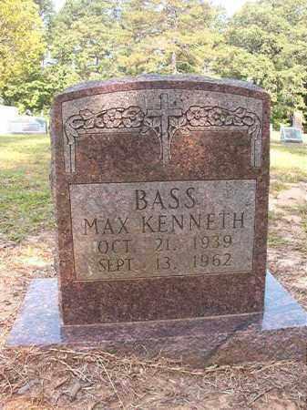BASS, MAX KENNETH - Calhoun County, Arkansas | MAX KENNETH BASS - Arkansas Gravestone Photos