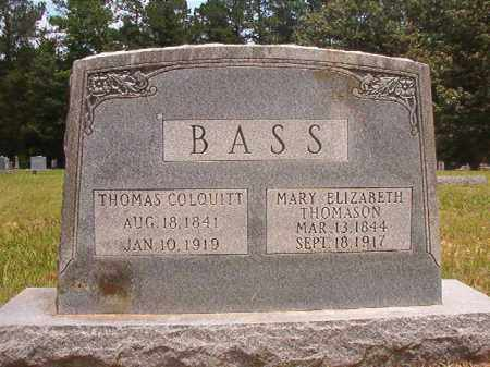 BASS, MARY ELIZABETH - Calhoun County, Arkansas | MARY ELIZABETH BASS - Arkansas Gravestone Photos
