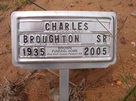 BROUGHTON, SR, CHARLES - Calhoun County, Arkansas | CHARLES BROUGHTON, SR - Arkansas Gravestone Photos