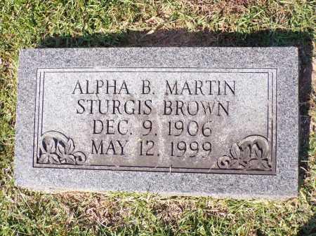 BROWN, ALPHA B - Calhoun County, Arkansas | ALPHA B BROWN - Arkansas Gravestone Photos