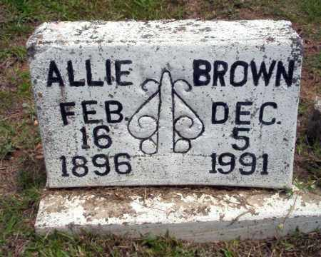 BROWN, ALLIE - Calhoun County, Arkansas   ALLIE BROWN - Arkansas Gravestone Photos
