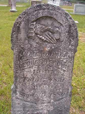 BROWN, GEORGE H - Calhoun County, Arkansas | GEORGE H BROWN - Arkansas Gravestone Photos