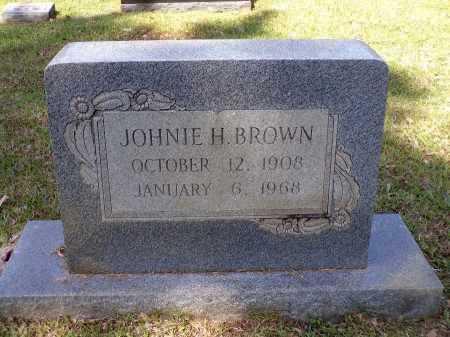 BROWN, JOHNIE H - Calhoun County, Arkansas | JOHNIE H BROWN - Arkansas Gravestone Photos