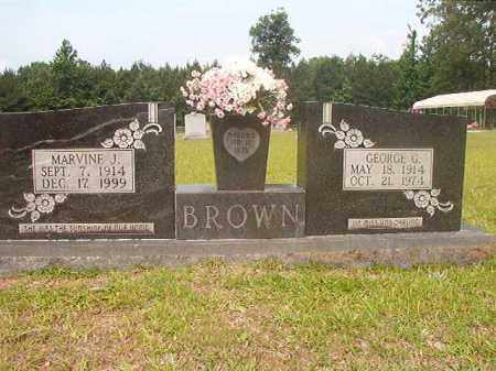 BROWN, GEORGE G - Calhoun County, Arkansas   GEORGE G BROWN - Arkansas Gravestone Photos